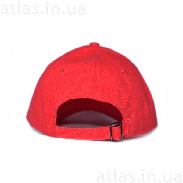 красная бейсболка белый кант вышивка