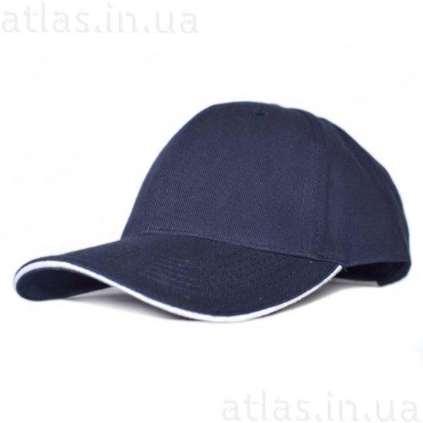 темно-синяя бейсболка белый кант