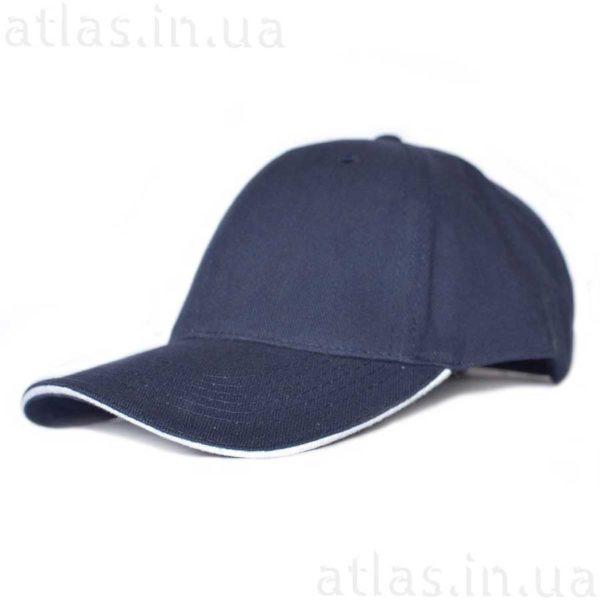 темно-синяя кепка белый кант