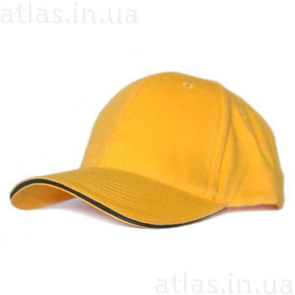 желтая кепка черный кант