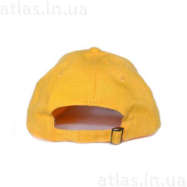 желтая бейсболка черный кант вышивка