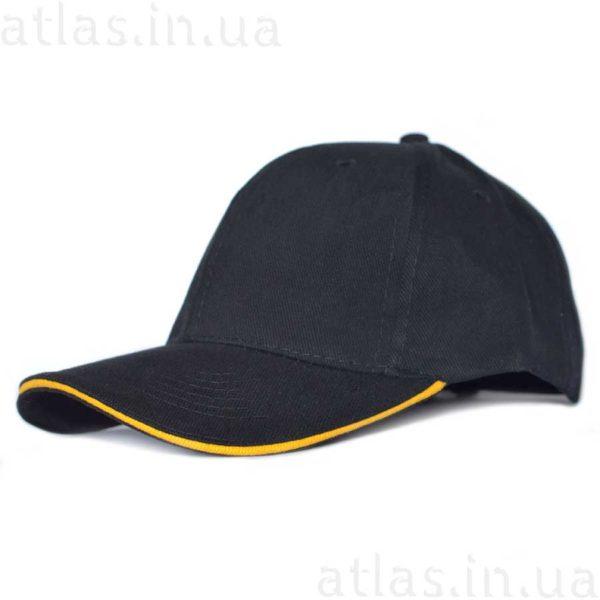 черная кепка желтый кант