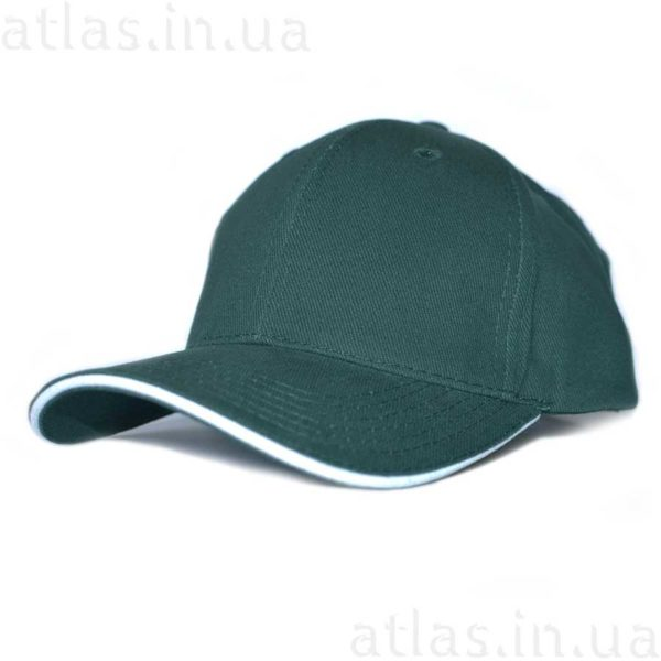 темно-зеленая бейсболка