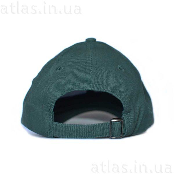 темно-зеленая бейсболка под вышивку