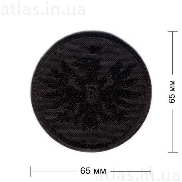Орел герб нашивка черная