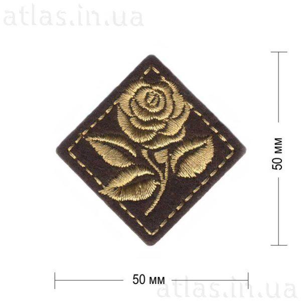 роза ромб коричневая 50х50 мм