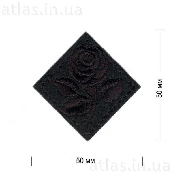 роза ромб черная 50х50 мм