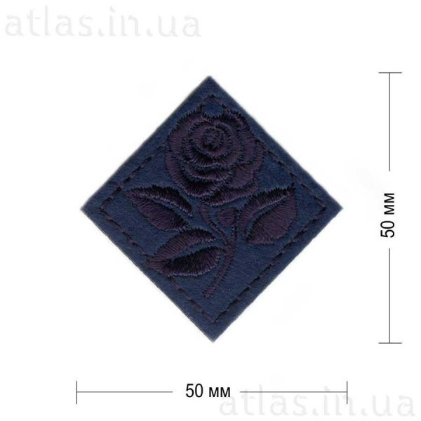 роза ромб темно-синяя 50х50 мм