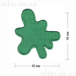 клякса нашивка зеленая