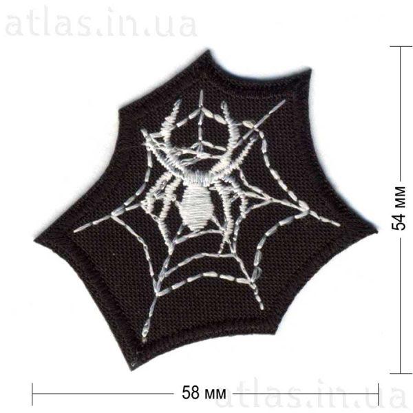 spider нашивка черная 58х54 мм