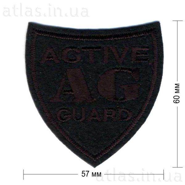 ag-active-guard-black нашивка черная 57х60 мм