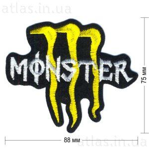 monster-energy нашивка черная 88х75 мм