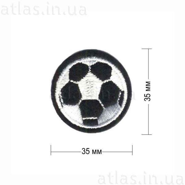 мяч футбольный клеевая нашивка черная