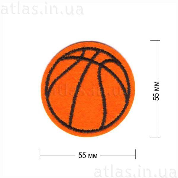 баскетбольный мяч нашивка оранжевая