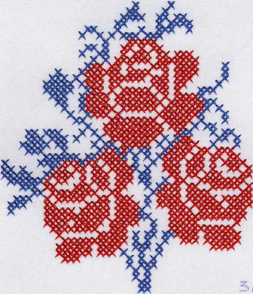 Машинная вышивка схемы вышивки крестом