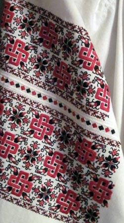 Традиционный узор Черниговщина Украина - схема вышивки крестиком