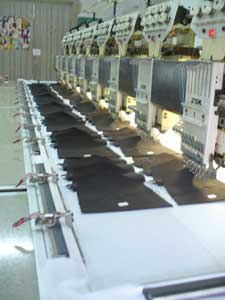 Plane Embroidery Machine ZSK, used for embroidery patches and chevrons