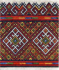 Традиционный узор Карпаты Украина - схема вышивки крестиком