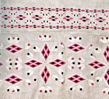 Традиционный узор Полесье Украина - схема вышивки крестиком